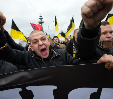 Rising ultra-right movements in Russia could become a challenge for the power of Vladimir Putin, as well as for the future of Ukraine (Image: drugoi.livejournal.com)