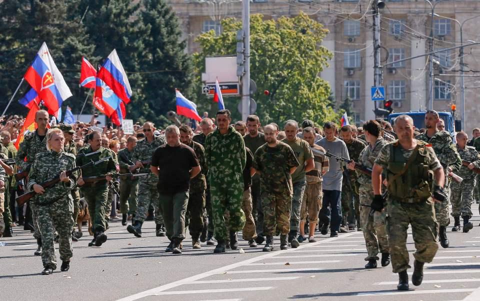 Russia Ukraine Donetsk POW