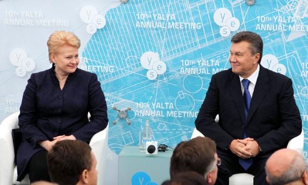 Yanukovych Gribauskayte Ukraine Lithuania Yalta 2013