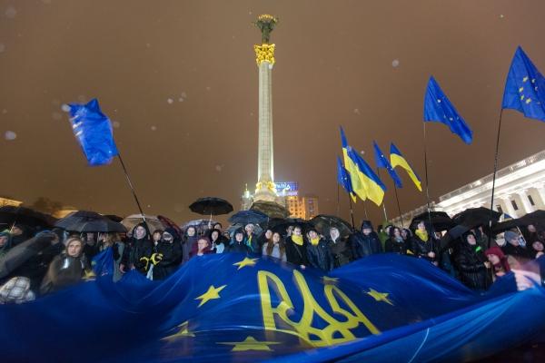 Ukraine Euromaidan European Union flag