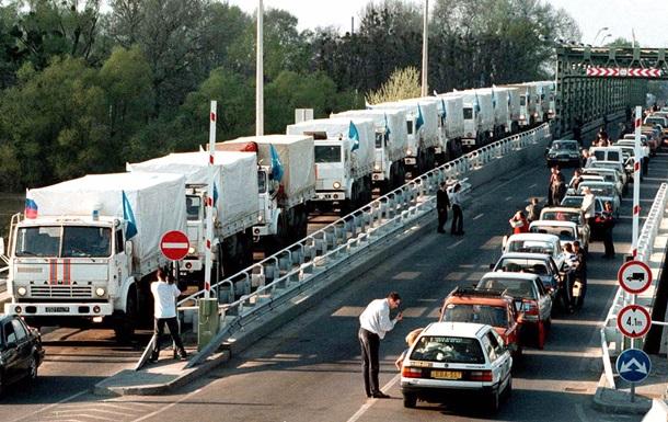 Russia Ukraine border trucks 2013