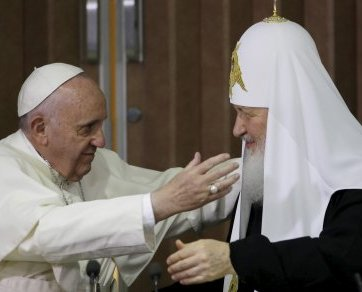 Meeting between Pope Francis and Moscow Patriarch Kirill