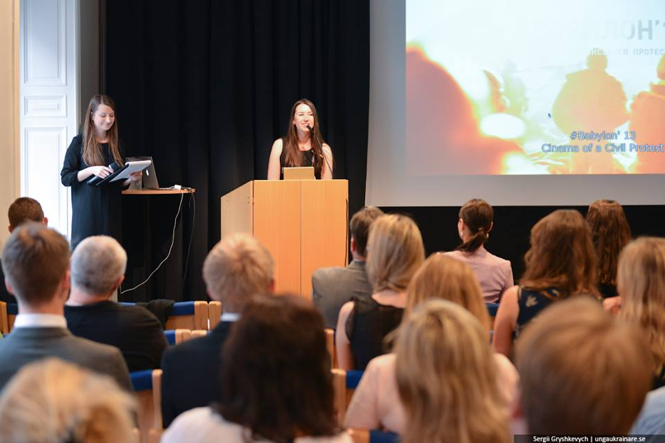 "A film screening of the documentary ""Heaven´s Hundred"" produced by Babylon'13 hosted by Unga Ukrainare i Sverige in cooperation with the US Embassy in Sweden. Photo by Unga Ukrainare i Sverige"