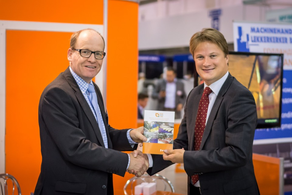 Benno Grimberg, Director Grimco Trade Holland (left) and Evert Jan Krajenbrink, Head Economic Affairs / Agricultural Counsellor, Embassy of the Kingdom of the Netherlands in Ukraine (right).