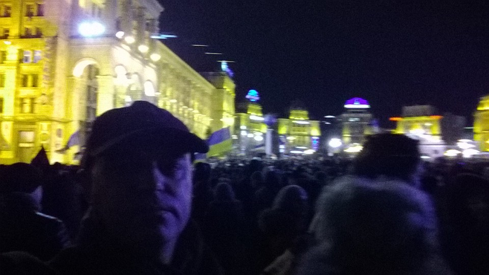 Drost on Maidan square, Kyiv, on 1 December 2013
