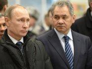 Vladimir Putin with Russian defense minister Sergey Shoigu