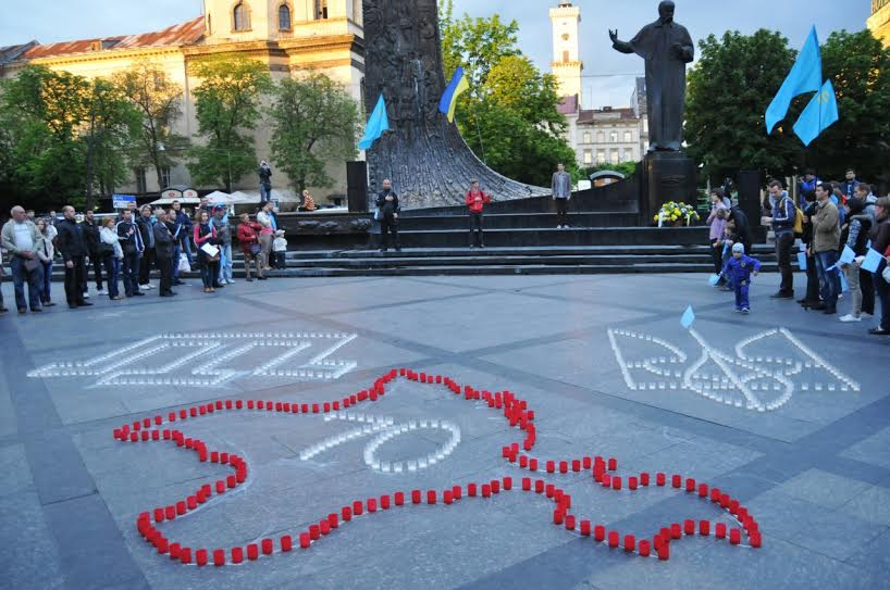 Commemoration of the day of deportation of Crimean Tatars, 18 May 2015, in Lviv. Photo: UNN