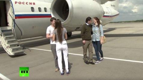 Arrival of GRU operatives Aleksandrov and Yerofeyev amnestied by Ukraine to Moscow. Photo: RT