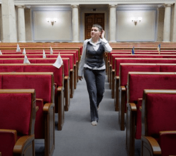 Nadiya Savchenko's first day in Verkhovna Rada (Ukrainian parliament)
