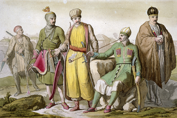 Circassians in Typical Dress by A. Biasoli from a book by Giulio Ferrario published in the early 1800s (Image: Corbis)