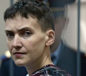 Nadiya Savchenko far into one of her hunger strikes while in Russian prison