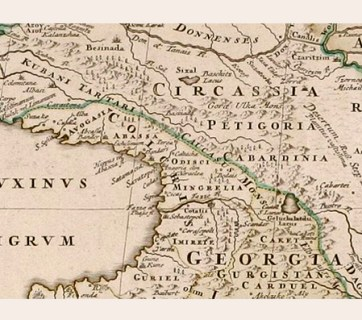 This map shows Circassia and Georgia before the Russian conquest (Image: Johann Homann via Wikimedia)