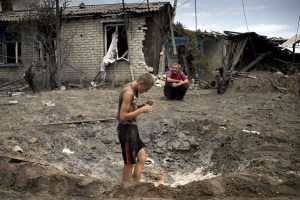 Devastation in the Donbas, Ukraine brought by the Russian invasion (Image: znak.com)