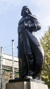 This old Lenin statue in Odesa, Ukraine was refashioned into Darth Vader. October 2015. (Image: VOLODYMYR SHUVAYEV, AFP/Getty Images)