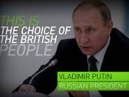 """Putin in a propaganda video by RT (Russia Today): """"This is the choice of British people"""" (Image: screen capture)."""