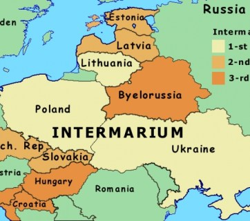 Intermarium - an alliance of countries between the Baltic and Black Seas to protect themselves from the Russian imperialism and militarism (Image: QHA.com.ua)