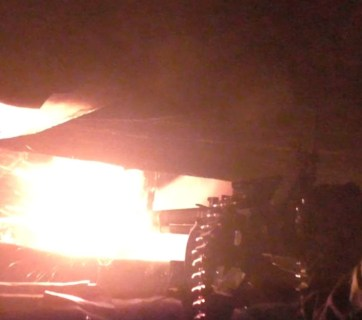 Russian military firing on Ukrainian positions from high caliber machine gun near Donetsk in July 2016. (Image: social media)