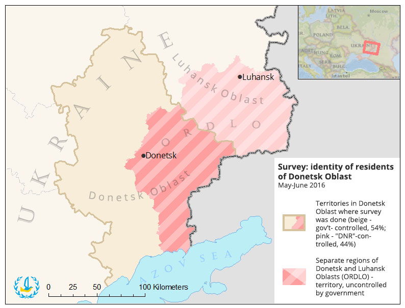 Territories where the survey was carried out. Map: Euromaidan Press