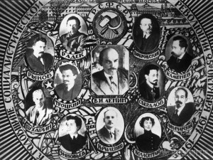 """Lenin's Politburo of 1918. Only a couple of its members survived Stalin's """"cleanings."""""""