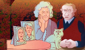 If Putin at 64 were the ordinary Russian: Married to his first wife (Image: OpenRussia.org)