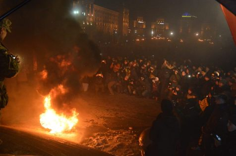 Protesters are burning tires