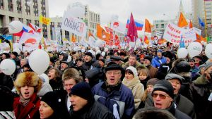 Rally at the Academician Sakharov Avenue, Moscow, 24 December 2011 (Image: PL Bogomolov / Wikipedia)