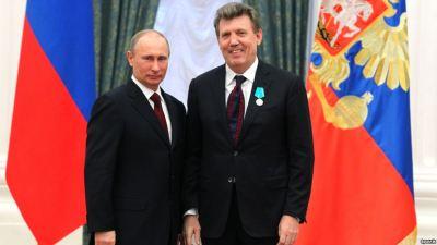 Valdimir Putin with Serhiy Kivalov, Moscow, February, 22, 2013