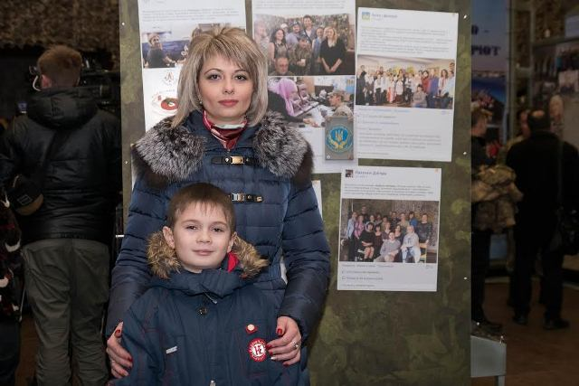 Svitlana Guba and her son Photo: adm.dp.gov.ua