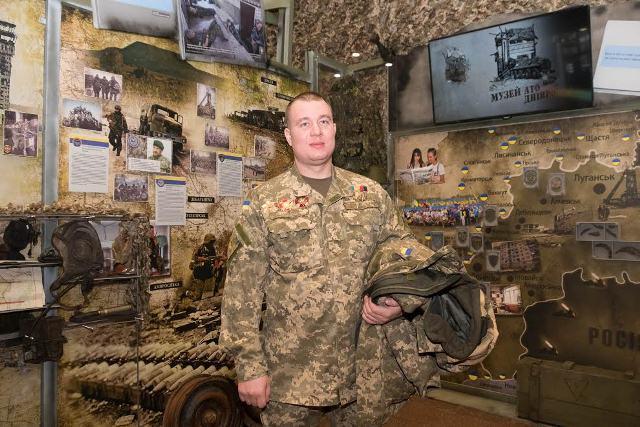Yevhen Mezhevikin, the commander of a tank battalion and a Hero of Ukraine Photo: adm.dp.gov.ua