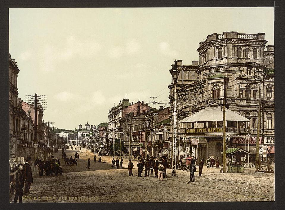 Khreshchatyk Street in Kyiv, Ukraine circa 1890-1900. Image: Detroit Publishing Company via the Library of Congress
