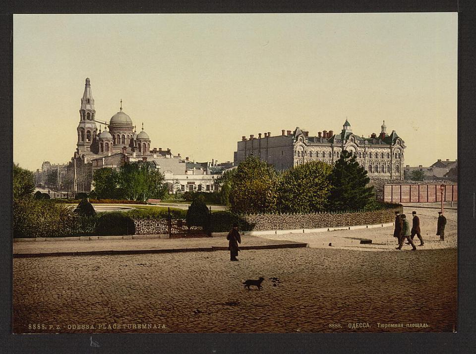 Prison Square in Odesa, Ukraine circa 1890-1900. Image: Detroit Publishing Company via the Library of Congress