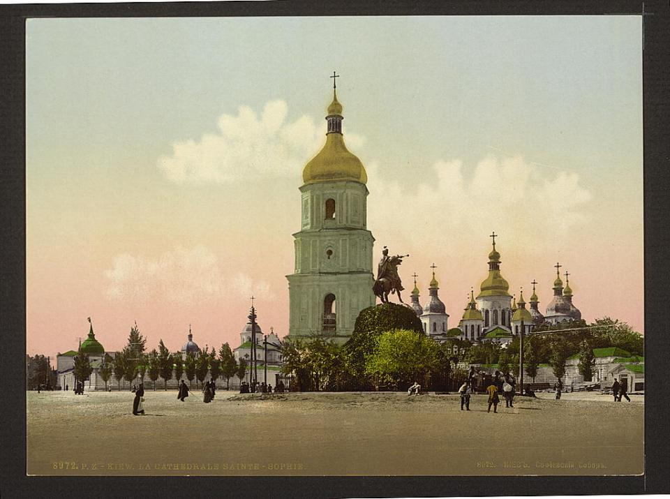 St. Sophia Cathedral in Kyiv, Ukraine circa 1890-1900. Image: Detroit Publishing Company via the Library of Congress