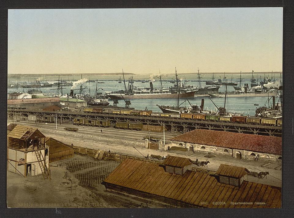 A view of the Practical Harbor in Odesa, Ukraine circa 1890-1900. Image: Detroit Publishing Company via the Library of Congress