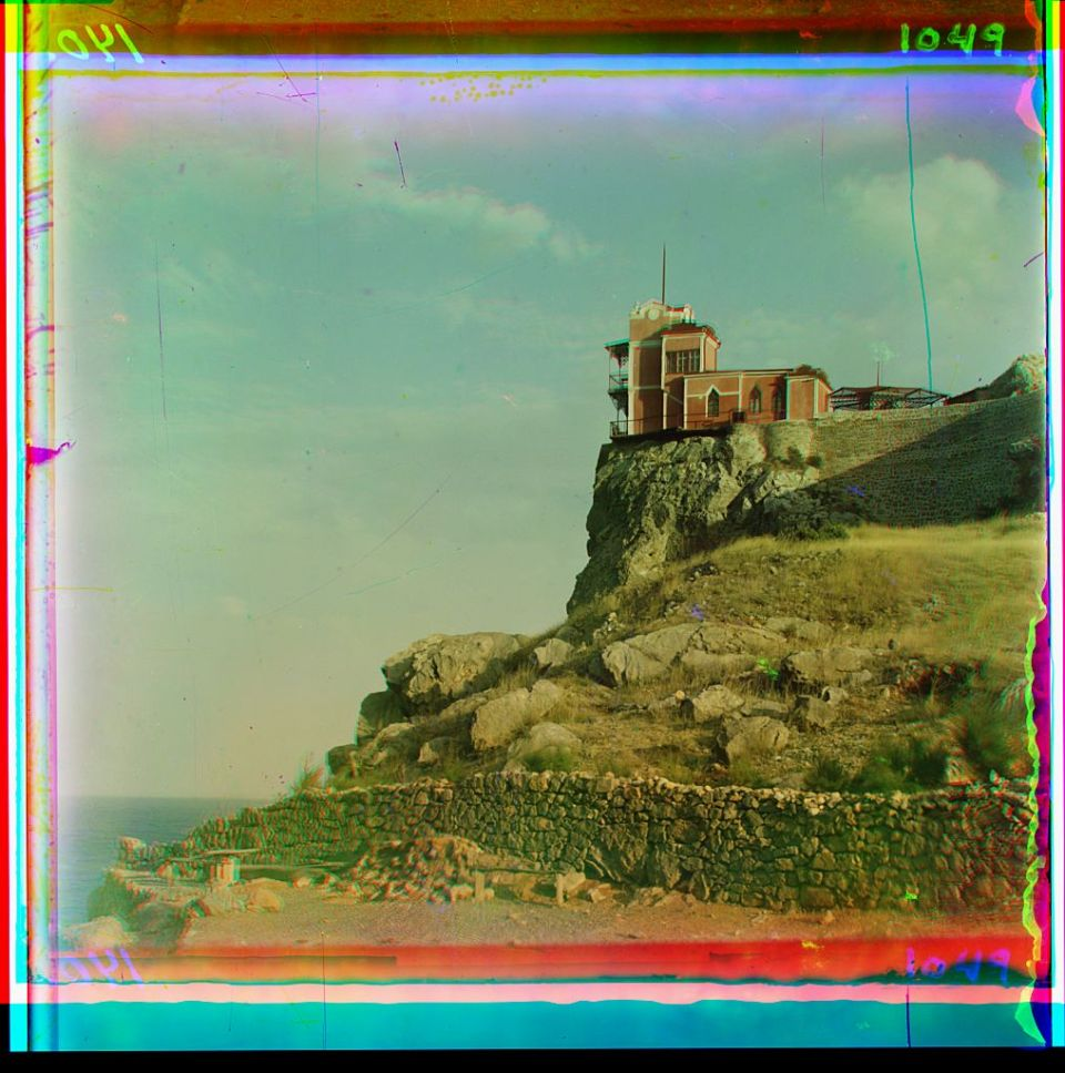 The Swallow's Nest in Crimea, Ukraine circa 1905-1915. Photo: Prokudin-Gorsky via the Library of Congress