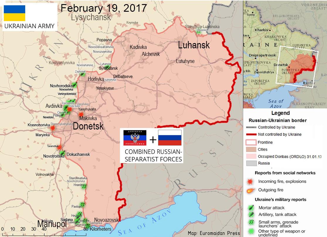 DonbasReports: 62 attacks, 1 KIA, 1 WIA  Blockade campaigners