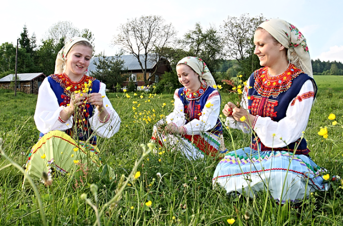 Lemko women in Poland
