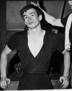 Press photo of Rudolf Nureyev at his defection from Soviet Union, 1961. (Image: wikipedia.org)