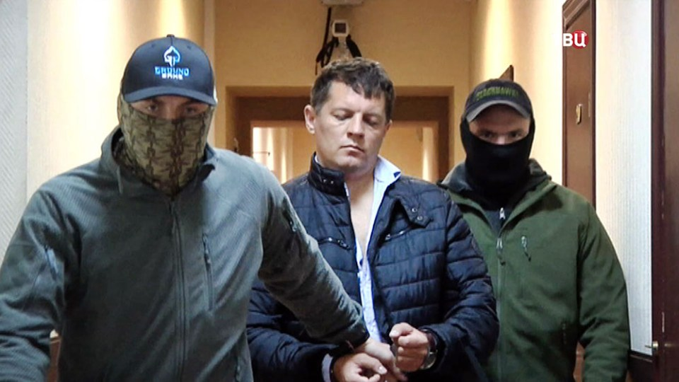 Roman Sushchenko is a Ukrainain journalist which became a political prisoner of Kremlin Photo: tvc.ru