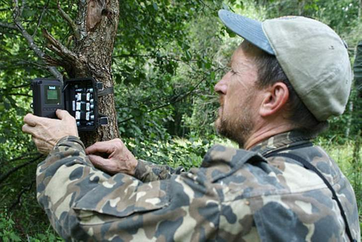 Serhiy Hashchak establishes a phototrap