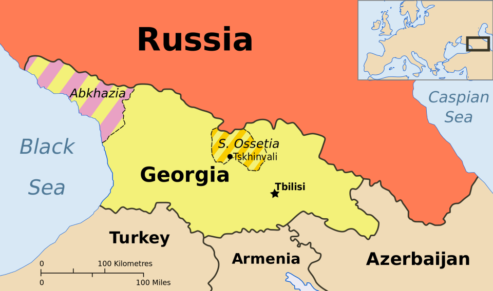 Russia already controls two puppet states on occupied Georgian territory
