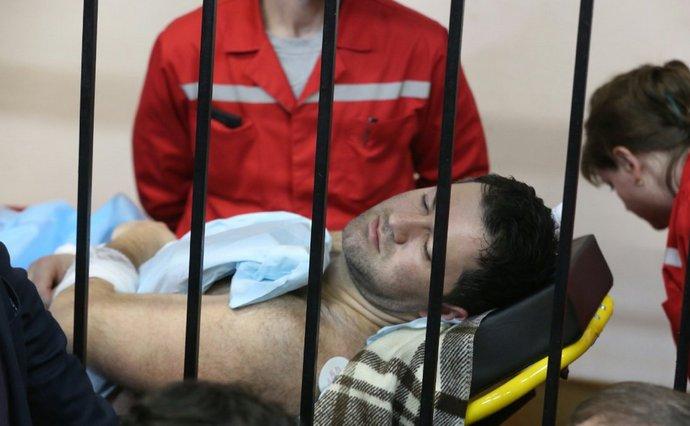 Nasirov during the first court hearing. Photo: Radio Svoboda
