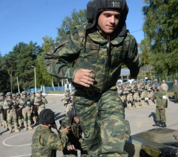 Russian military exercises in the Pskov region bordering Estonia. August 2015
