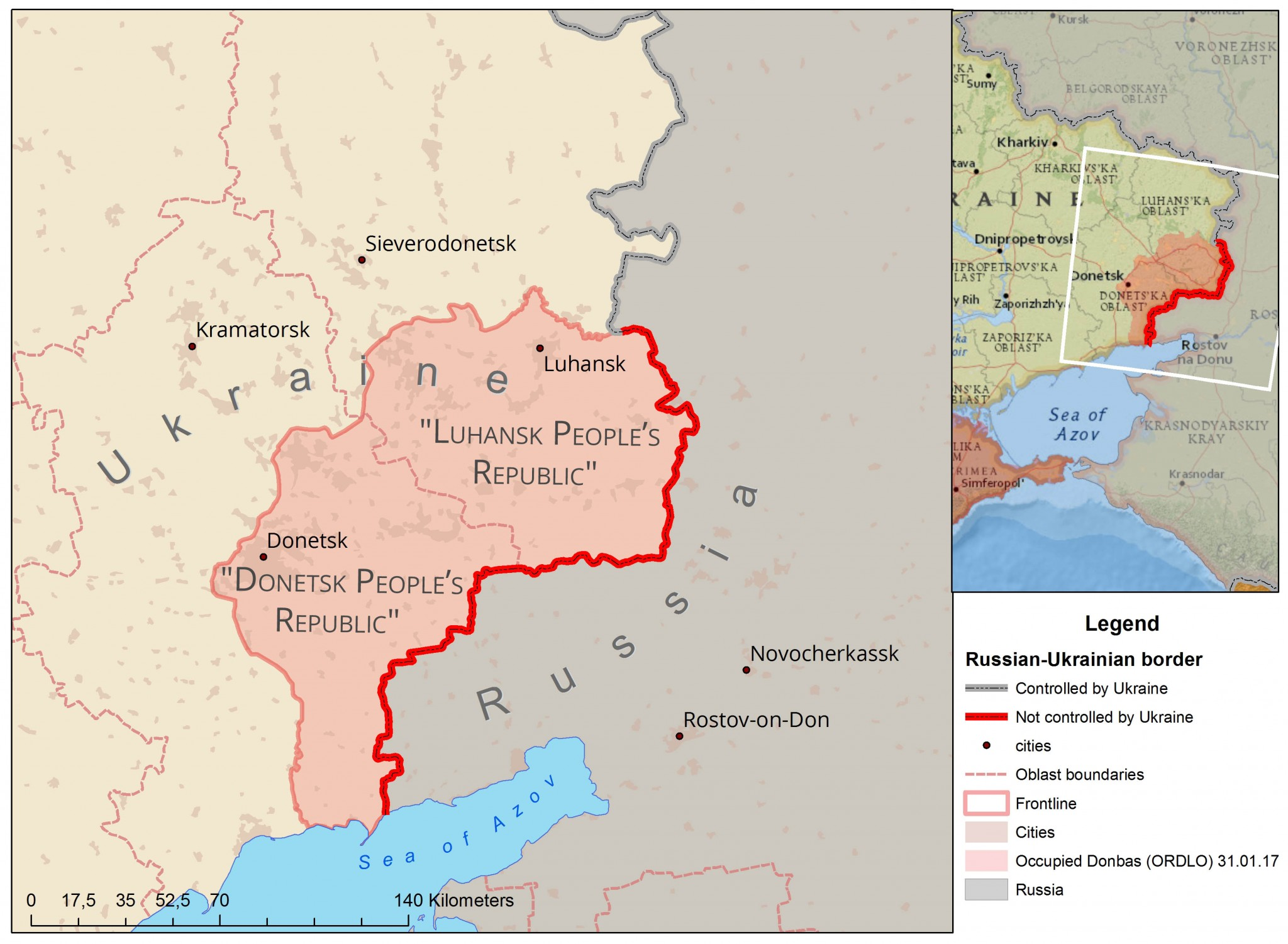 Lets talk about how many kilometers from Rostov to Crimea