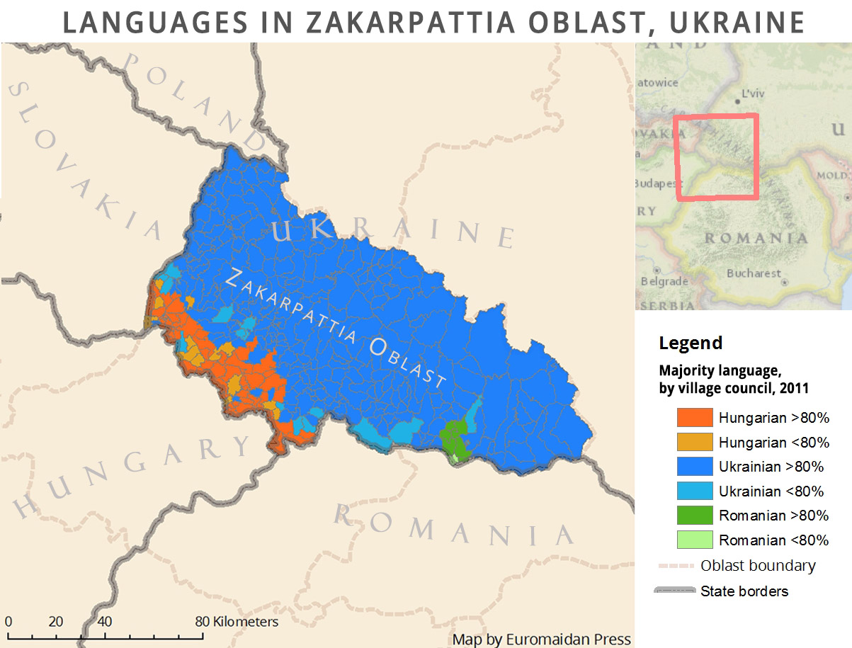 Authorities in Transcarpathia: a selection of sites