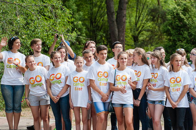 At the opening of Go Camps East 2017. Photo: flickr.com/global office