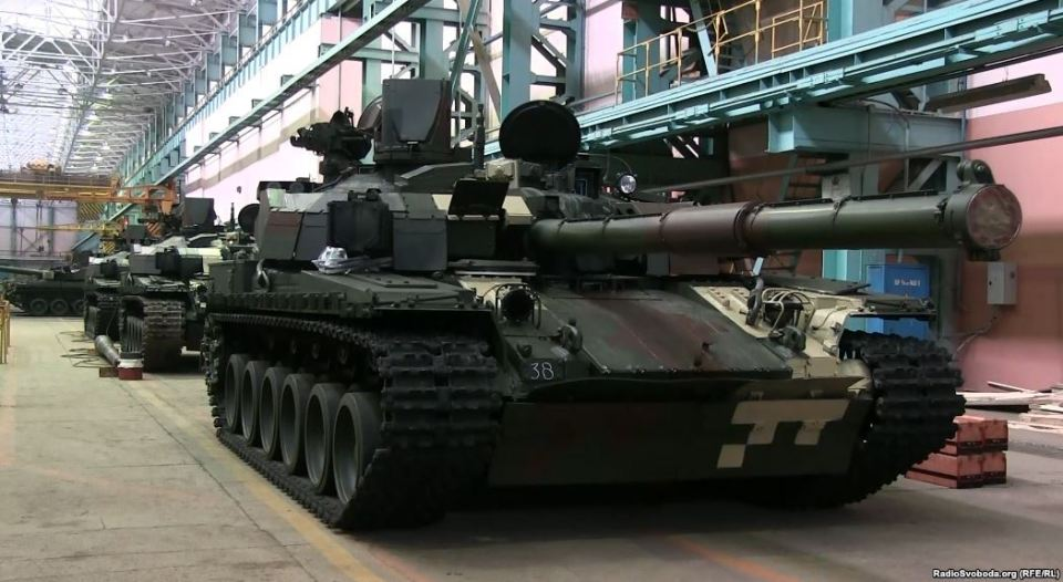 The Oplot Tank on the Malyshev Factory floor, Kharkiv