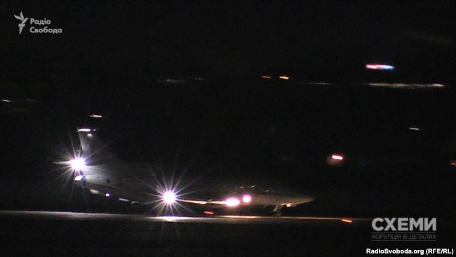 A photo fo the plane landing in Zhuliany. Photo: RFE/RL