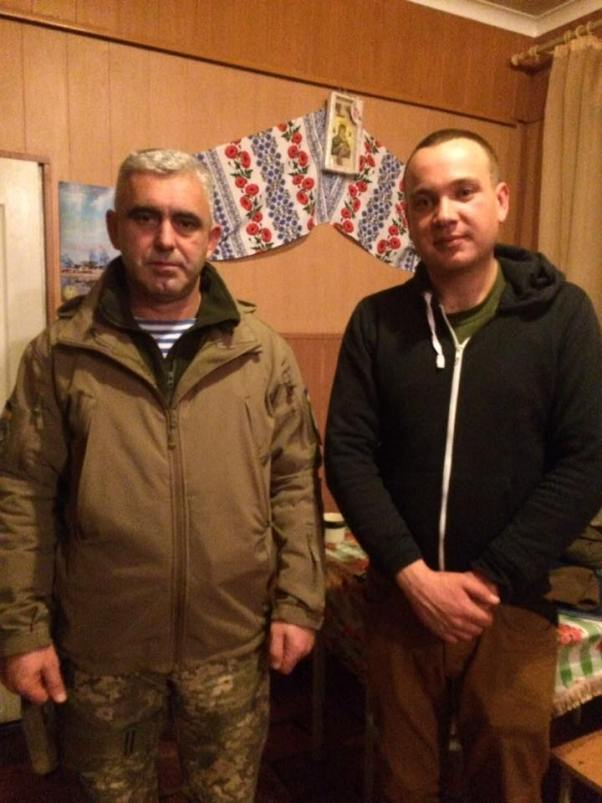 Major-General Andriy Kovalchuk (left) and co-author Serhiy Glotov