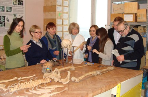 Employees of the department of bioarcheology of the Institute of Archeology of the National Academy of Sciences of Ukraine