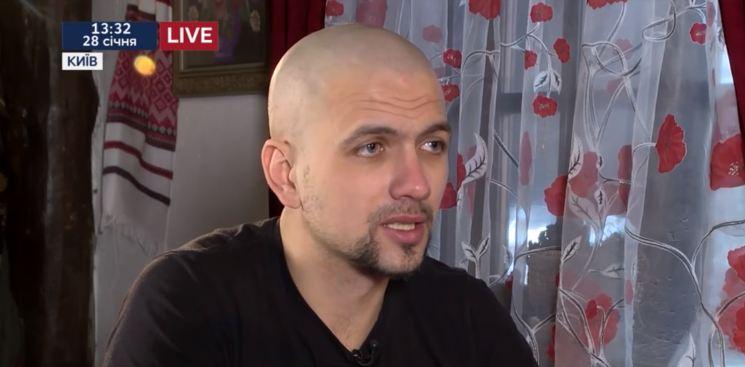 Civilian resident of Debaltseve Ihor Yakovenko who spent more than 28 months in captivity. Screenshot: Youtube/112 Ukraine